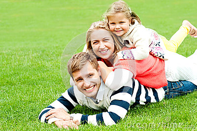 Husband and wife with kid