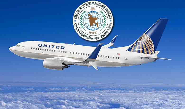 The logo of BSEC and United Airways