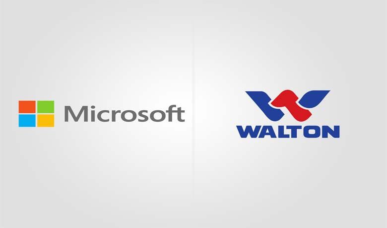 Logos of Microsoft and Walton