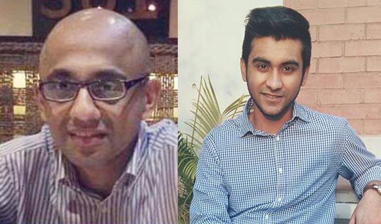 গ্রেপ্তারকৃত হাসনাত করিম (বাঁয়ে) ও তাহমিদ হাসিব খান