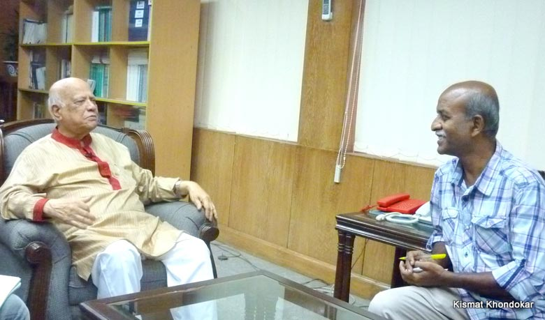 Finance Minister Abul Maal Abdul Muhith in an interview session