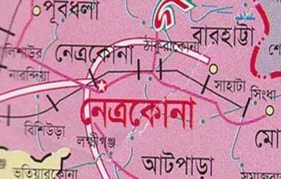 নেত্রকোনা জেলার মানচিত্র