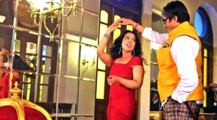 Big B shoots with Maharashtra CM`s wife