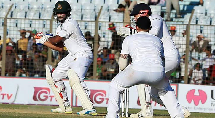 A scene of the match during Bangladesh vs England test cricket