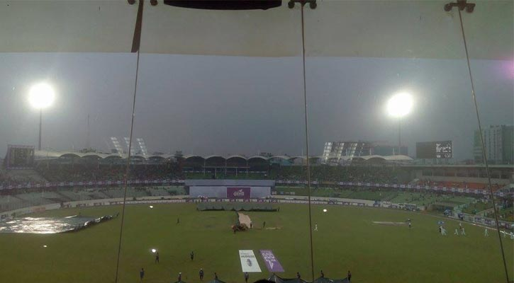Play called off due to rain