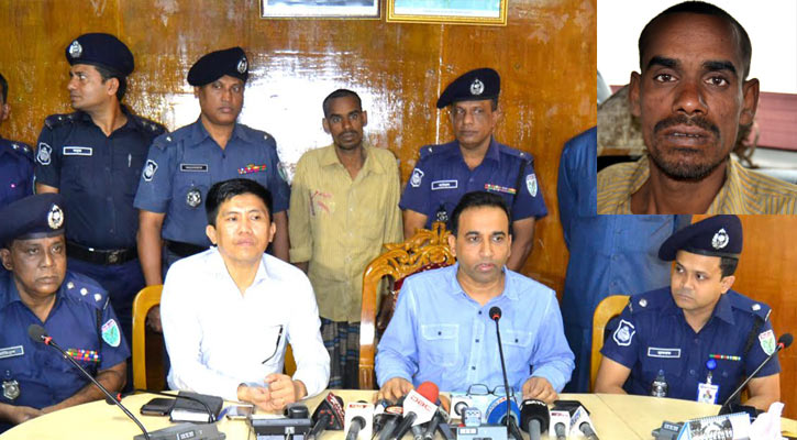 SP Moniruzzaman briefs media at his office on Wednesday. (Inset: Satir Ali)