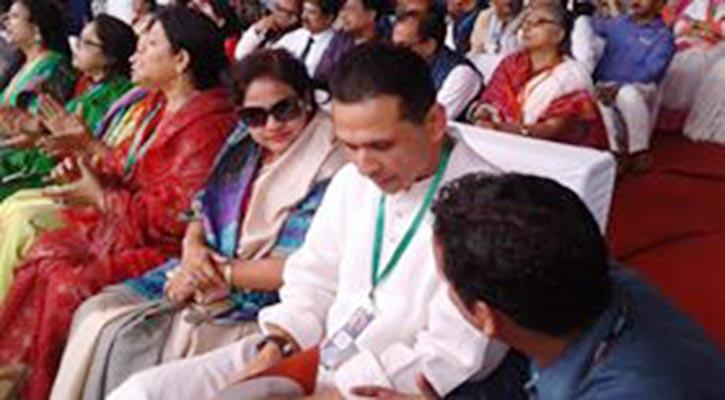 Tanjim Ahmad Sohel Taj joins AL's 20th national council at historic Suhrawardy Udyan in the capital.