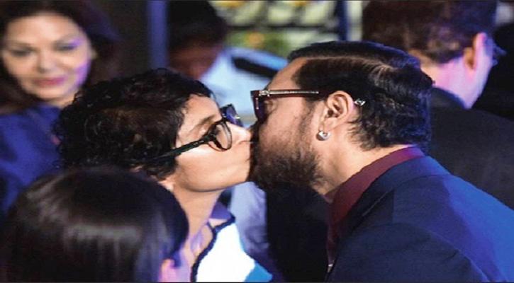 Aamir Khan lip locks with Kiran Rao