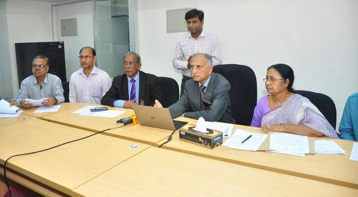 Dhaka University Vice-Chancellor, AAMS Arefin Siddique in press briefing