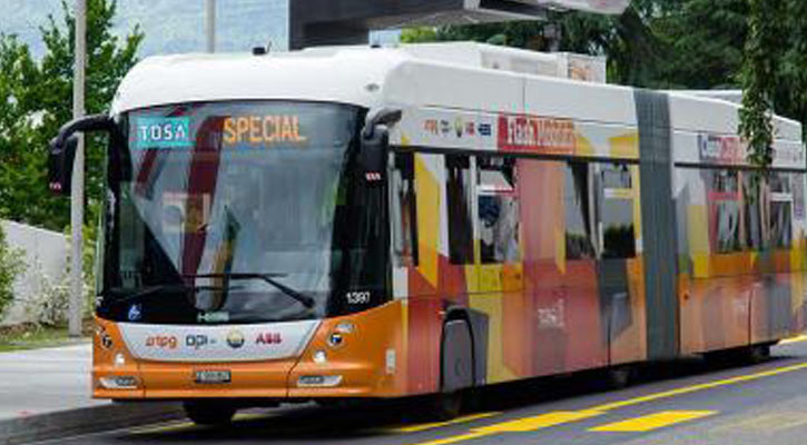 Bus runs 2 km on 15 seconds of charge