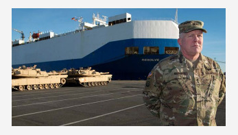 US tanks roll into Germany to help Nato defences