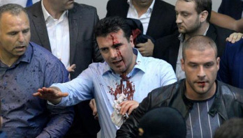 Macedonia parliament stormed by protesters