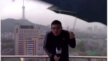 Chinese weatherman struck by lightning while filming