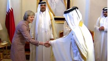 British PM Theresa May in Saudi Arabia for trade talks