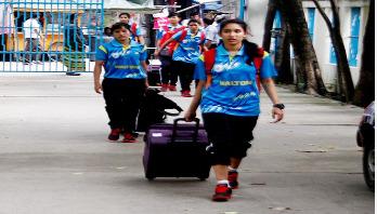 চীন সফর শেষে দেশে ফিরেছে অনূর্ধ্ব-১৬ দল