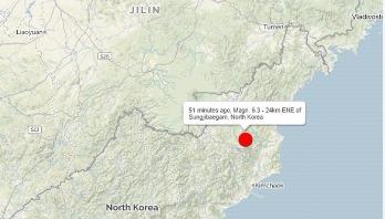 6.3 earthquake in North Korea 'a nuclear test'