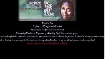 Bangladeshi boys hack Myanmar govt websites