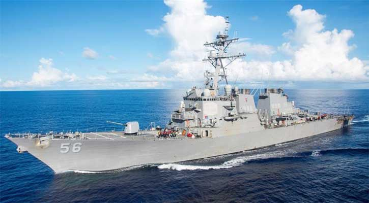 Ten sailors missing from US warship after collision