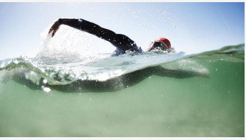 Cold open water plunge may provide instant pain relief