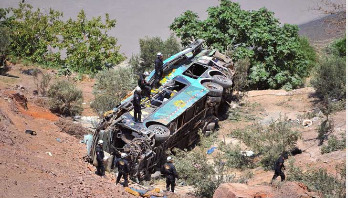 44 dead after bus plunges into ravine in Peru