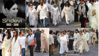 Celebrities pay last respects to Sridevi