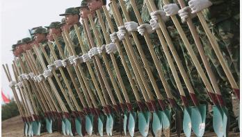 বৃক্ষ রোপনে ৬০ হাজার সেনা ব্যবহার করবে চীন