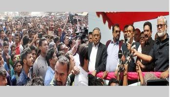 Ershad starts election campaign at Dhaka-17