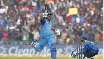 Rohit smashes third ODI double ton against Sri Lanka
