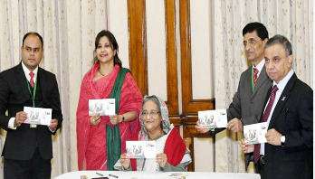 Sheikh Hasina releases postal stamp on Victory Day