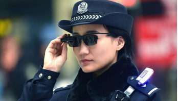 Chinese police catch criminals with sunglasses