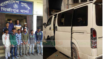 5 snatchers held with microbus in Tangail