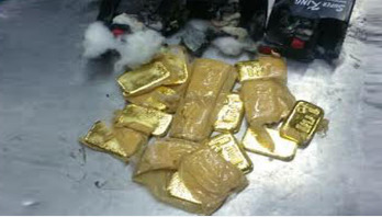 2 held with 3 kgs gold at Dhaka Airport