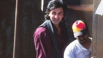 Ranbir's look from Sanjay Dutt biopic gets leaked