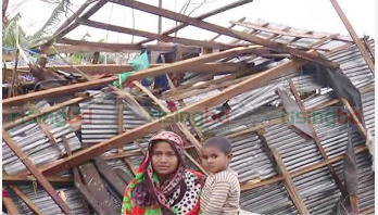 One dead, hundreds of houses damaged in Bhola cyclone