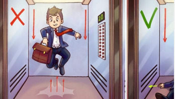 How to survive an elevator free fall