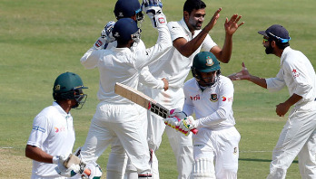 Bangladesh defeated by India in historic Test