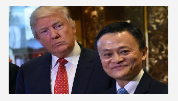 Alibaba founder Jack Ma meets with Trump