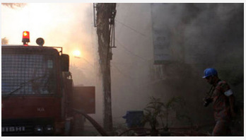 15 shops gutted by fire in Madaripur