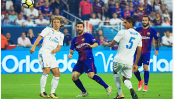 Barcelona beats Real Madrid in Ronaldo's absence