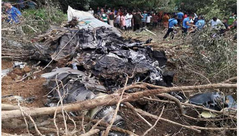 Air force's training aircraft crashes in Ctg