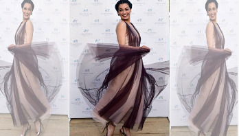 Dia Mirza's dress made of recycled shampoo bottles