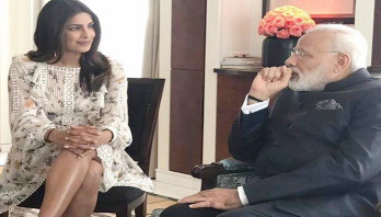 Priyanka meets Narendra Modi in Berlin
