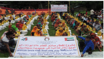 UAE embassy's month long iftar distribution programme