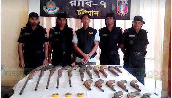 Huge cache of arms recovered in Cox's Bazar, 1 held