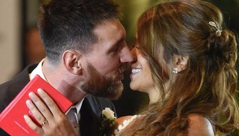 Messi ties knot with childhood girlfriend