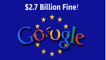 Google fined record £2bn over shopping service