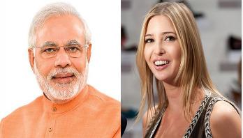 Ivanka Trump expresses gratitude to Indian PM Modi
