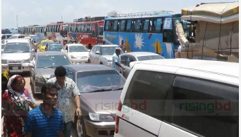Heavy rush at Shimulia-Kathalbari Ghat