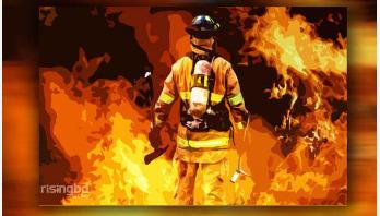 8 burnt in fire