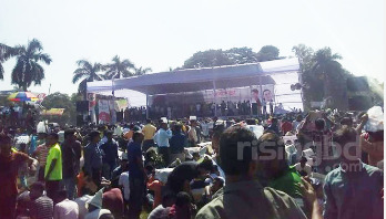 Stage ready for BNP rally at Suhrawardy Udyan